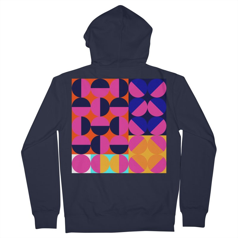 Geometric Design Series 4, Poster 8 (Version2) Men's French Terry Zip-Up Hoody by Madeleine Hettich Design & Illustration