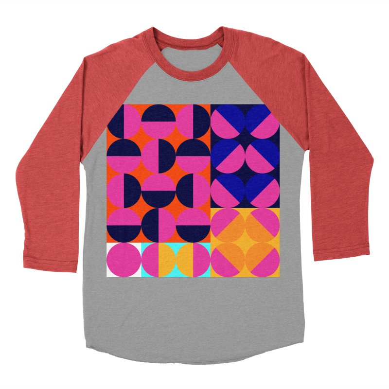 Geometric Design Series 4, Poster 8 (Version2) Women's Baseball Triblend Longsleeve T-Shirt by Madeleine Hettich Design & Illustration