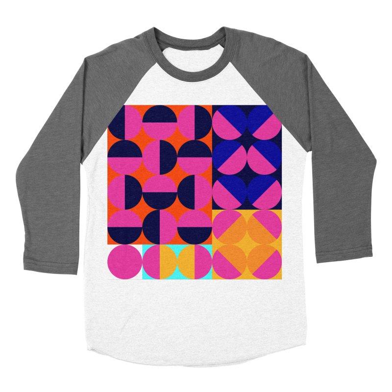 Geometric Design Series 4, Poster 8 (Version2) Men's Baseball Triblend Longsleeve T-Shirt by Madeleine Hettich Design & Illustration
