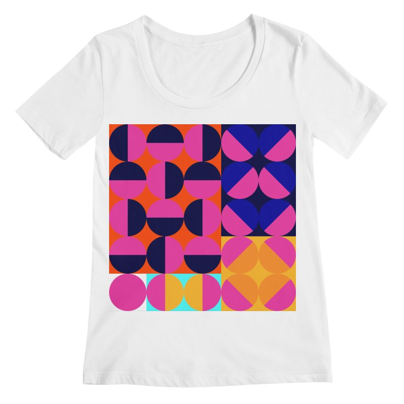 Geometric Design Series 4, Poster 8 (Version2) Women's Regular Scoop Neck by Madeleine Hettich Design & Illustration
