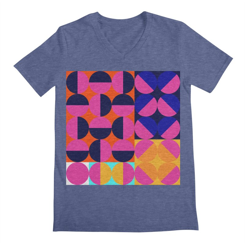 Geometric Design Series 4, Poster 8 (Version2) Men's Regular V-Neck by Madeleine Hettich Design & Illustration