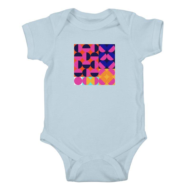 Geometric Design Series 4, Poster 8 (Version2) Kids Baby Bodysuit by Madeleine Hettich Design & Illustration