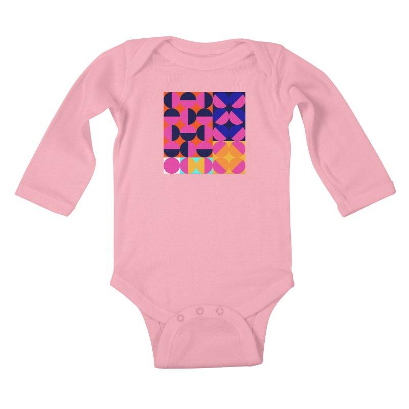 Geometric Design Series 4, Poster 8 (Version2) Kids Baby Longsleeve Bodysuit by Madeleine Hettich Design & Illustration