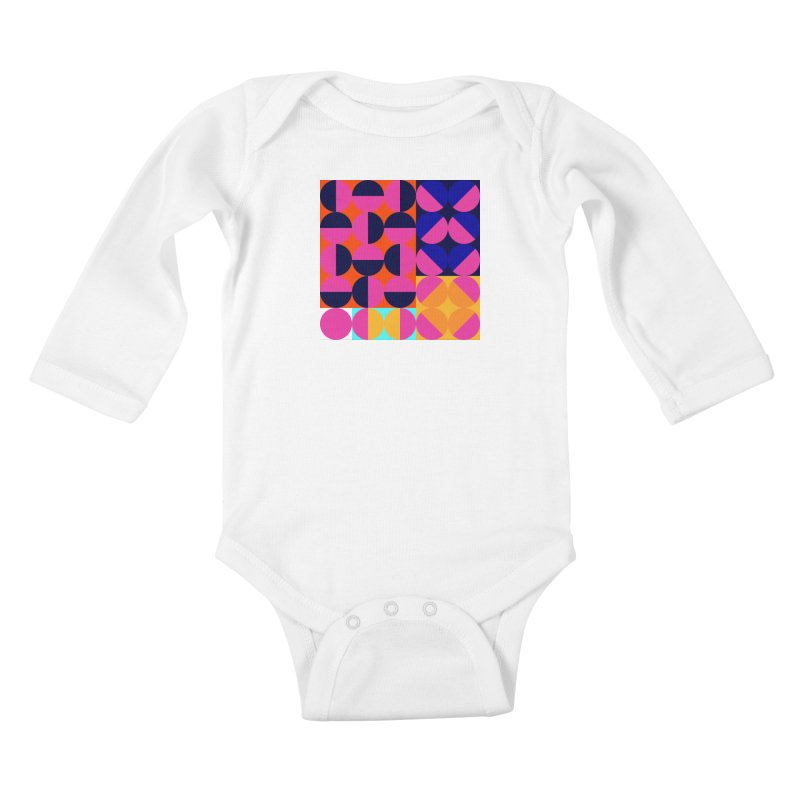Geometric Design Series 4, Poster 8 (Version2) Kids Baby Longsleeve Bodysuit by Madeleine Hettich Design & Illustration