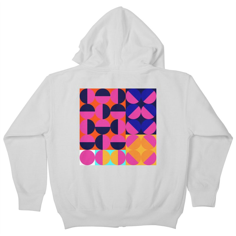 Geometric Design Series 4, Poster 8 (Version2) Kids Zip-Up Hoody by Madeleine Hettich Design & Illustration