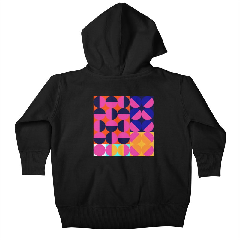 Geometric Design Series 4, Poster 8 (Version2) Kids Baby Zip-Up Hoody by Madeleine Hettich Design & Illustration