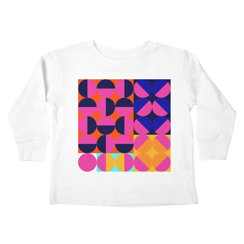 Geometric Design Series 4, Poster 8 (Version2) Kids Toddler Longsleeve T-Shirt by Madeleine Hettich Design & Illustration