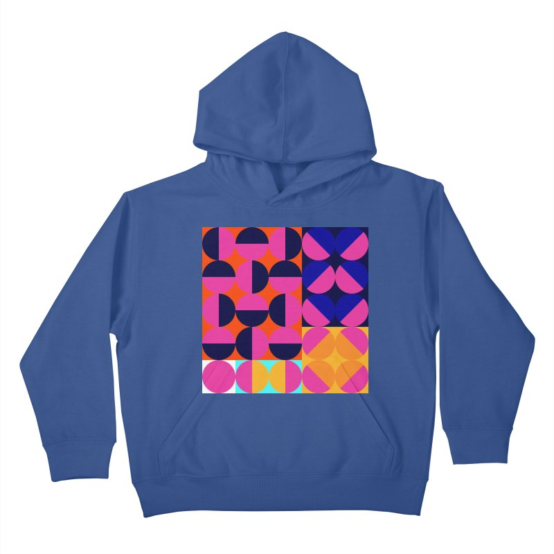 Geometric Design Series 4, Poster 8 (Version2) Kids Pullover Hoody by Madeleine Hettich Design & Illustration