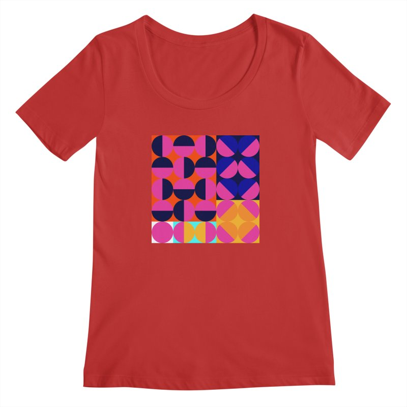 Geometric Design Series 4, Poster 8 (Version2) Women's Scoopneck by Madeleine Hettich Design & Illustration