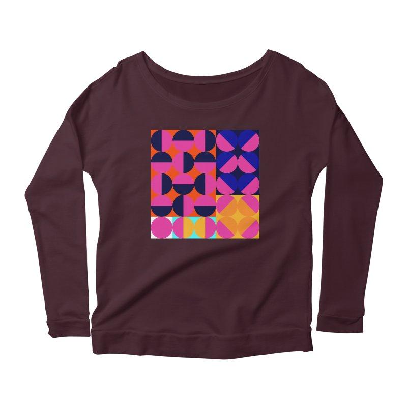 Geometric Design Series 4, Poster 8 (Version2) Women's Scoop Neck Longsleeve T-Shirt by Madeleine Hettich Design & Illustration