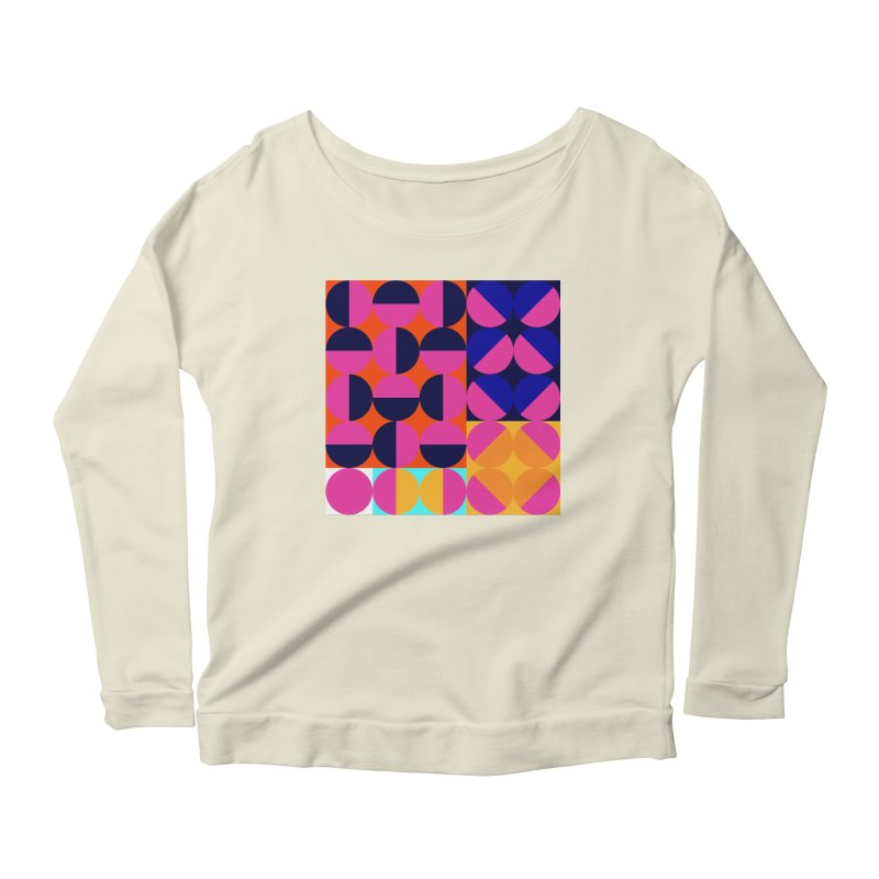 Geometric Design Series 4, Poster 8 (Version2) Women's Longsleeve T-Shirt by Madeleine Hettich Design & Illustration