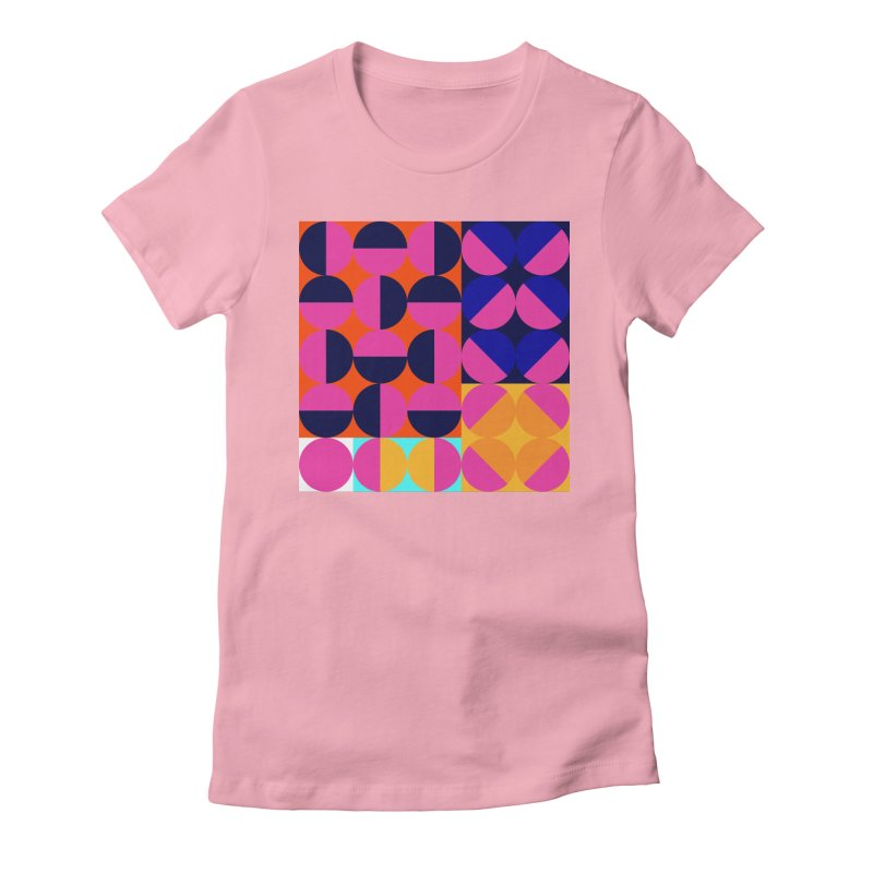 Geometric Design Series 4, Poster 8 (Version2) Women's Fitted T-Shirt by Madeleine Hettich Design & Illustration