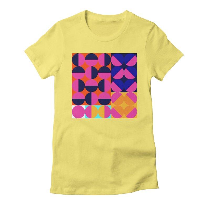 Geometric Design Series 4, Poster 8 (Version2) Women's Fitted T-Shirt by Madeleine Hettich Design & Illustration