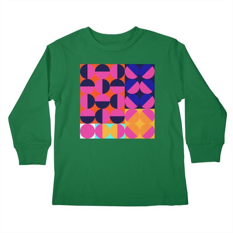 Geometric Design Series 4, Poster 8 (Version2) Kids Longsleeve T-Shirt by Madeleine Hettich Design & Illustration