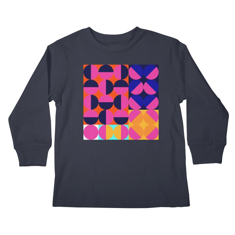 Geometric Design Series 4, Poster 8 (Version2) Kids Longsleeve T-Shirt by Madeleine Hettich Design & Illustration