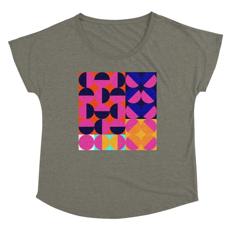 Geometric Design Series 4, Poster 8 (Version2) Women's Scoop Neck by Madeleine Hettich Design & Illustration