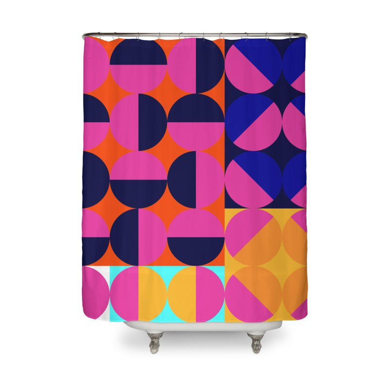 Geometric Design Series 4, Poster 8 (Version2) Home Shower Curtain by Madeleine Hettich Design & Illustration