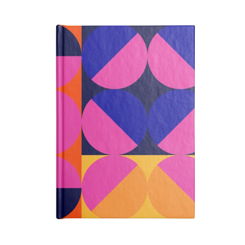 Geometric Design Series 4, Poster 8 (Version2) Accessories Lined Journal Notebook by Madeleine Hettich Design & Illustration