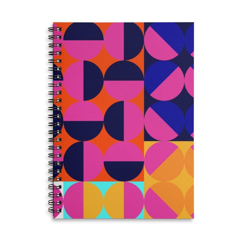 Geometric Design Series 4, Poster 8 (Version2) Accessories Lined Spiral Notebook by Madeleine Hettich Design & Illustration