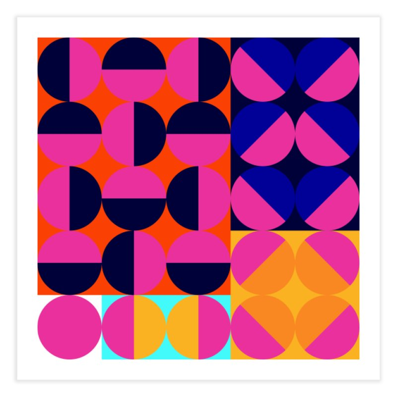 Geometric Design Series 4, Poster 8 (Version2) Home Fine Art Print by Madeleine Hettich Design & Illustration