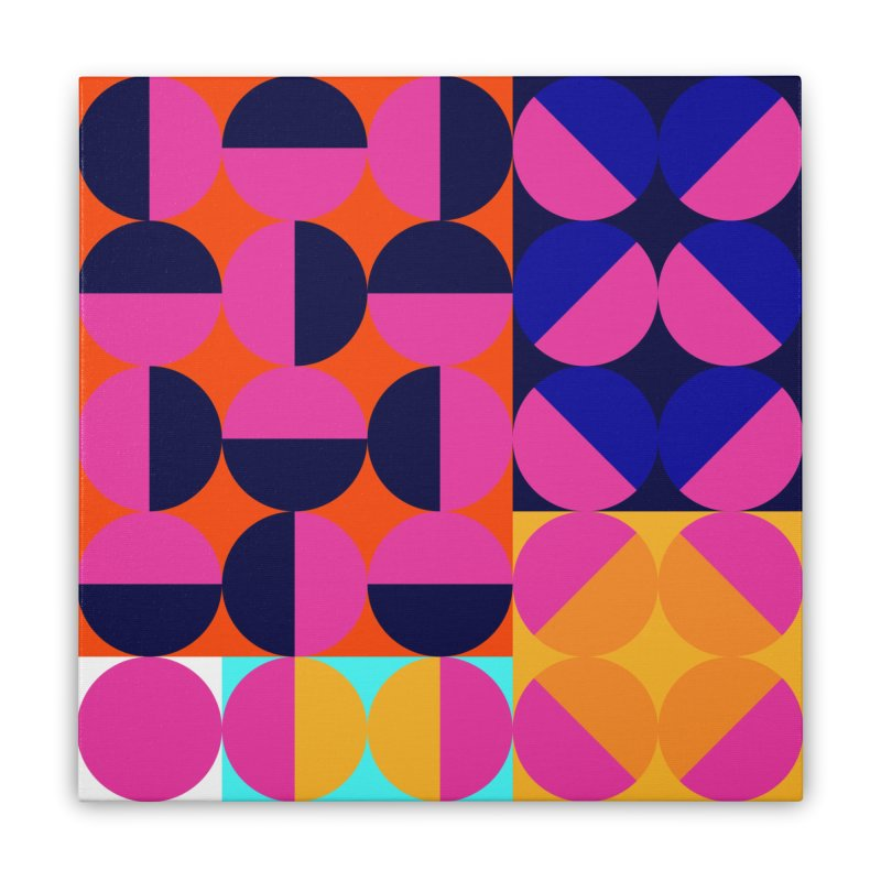 Geometric Design Series 4, Poster 8 (Version2) Home Stretched Canvas by Madeleine Hettich Design & Illustration