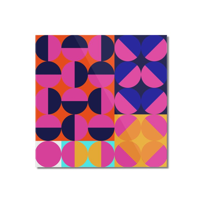 Geometric Design Series 4, Poster 8 (Version2) Home Mounted Acrylic Print by Madeleine Hettich Design & Illustration