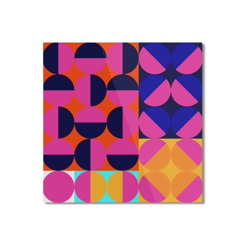 Geometric Design Series 4, Poster 8 (Version2) Home Mounted Aluminum Print by Madeleine Hettich Design & Illustration