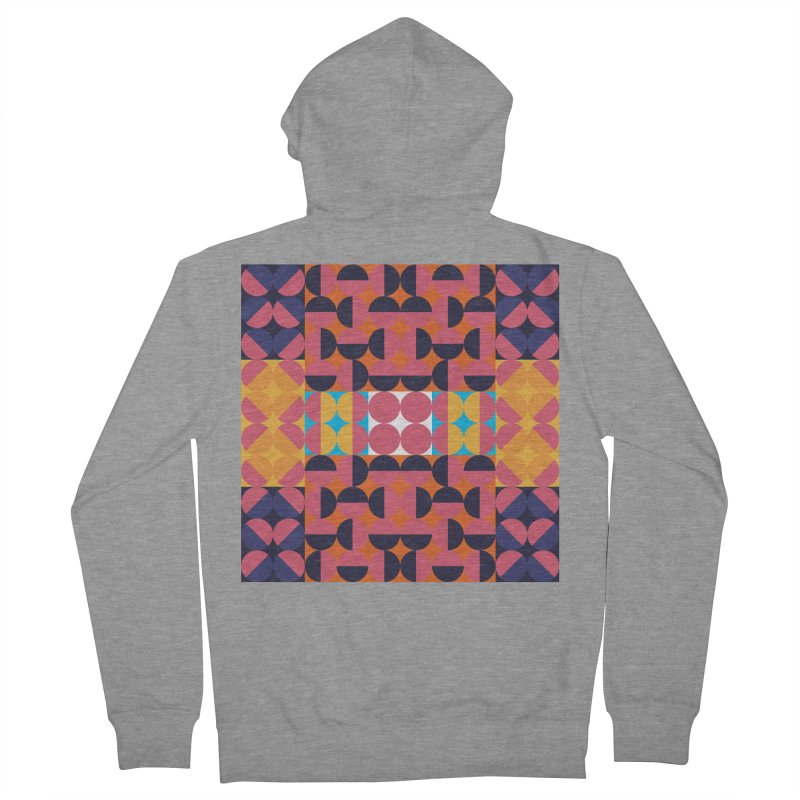Geometric Design Series 4, Poster 7 Men's French Terry Zip-Up Hoody by Madeleine Hettich Design & Illustration