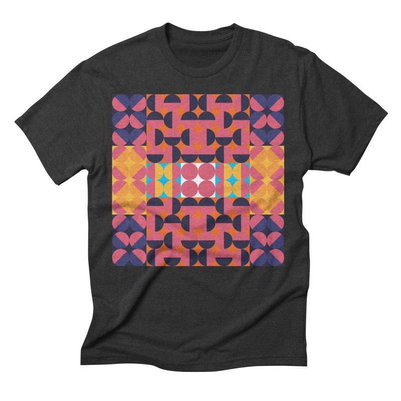 Geometric Design Series 4, Poster 7 Men's Triblend T-Shirt by Madeleine Hettich Design & Illustration