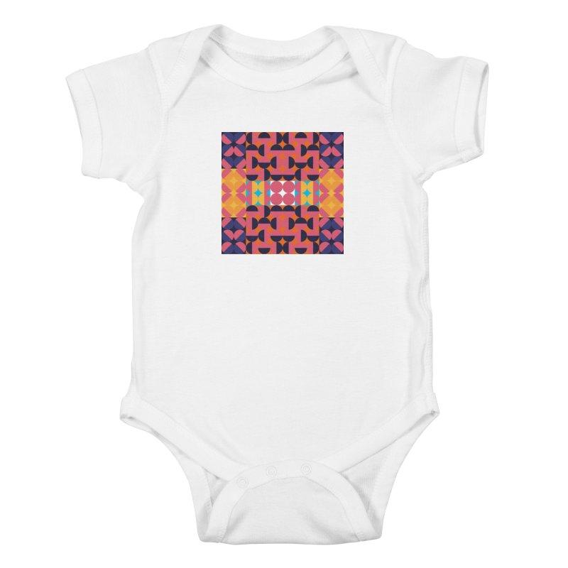 Geometric Design Series 4, Poster 7 Kids Baby Bodysuit by Madeleine Hettich Design & Illustration