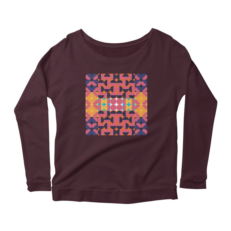 Geometric Design Series 4, Poster 7 Women's Scoop Neck Longsleeve T-Shirt by Madeleine Hettich Design & Illustration