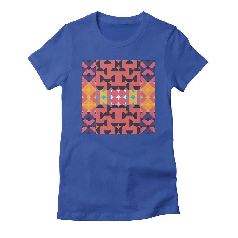 Geometric Design Series 4, Poster 7 Women's Fitted T-Shirt by Madeleine Hettich Design & Illustration