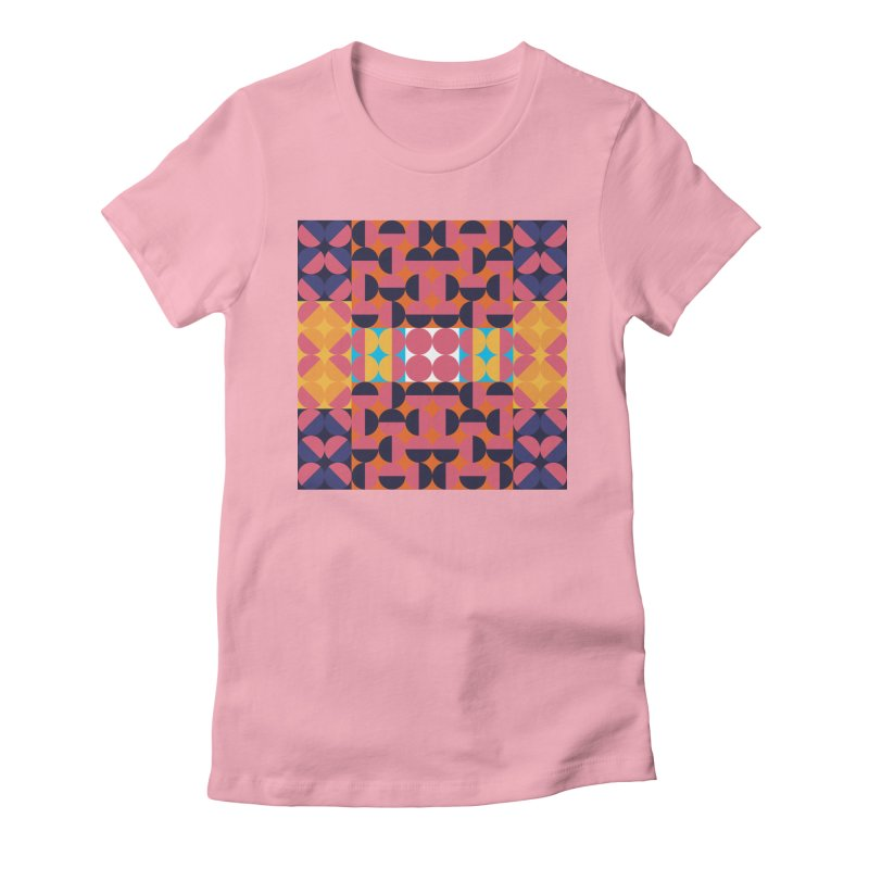 Geometric Design Series 4, Poster 7 Women's Fitted T-Shirt by Madeleine Hettich Design & Illustration