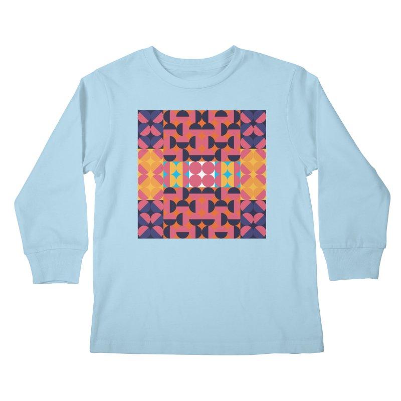 Geometric Design Series 4, Poster 7 Kids Longsleeve T-Shirt by Madeleine Hettich Design & Illustration
