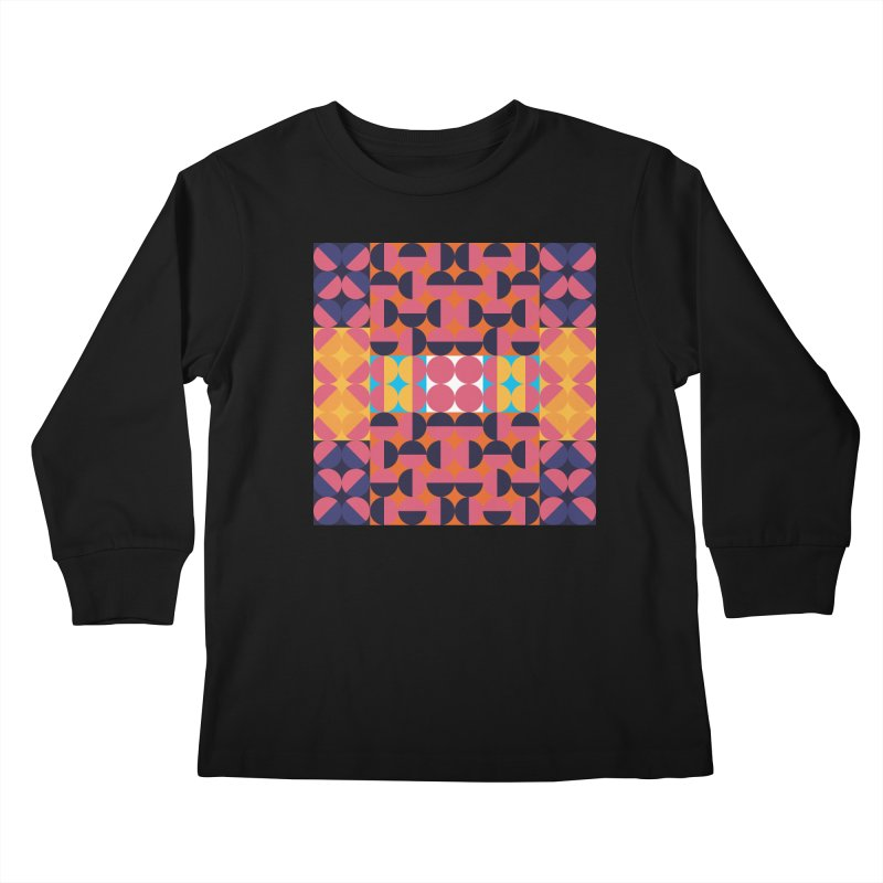 Geometric Design Series 4, Poster 7 Kids Longsleeve T-Shirt by Madeleine Hettich Design & Illustration