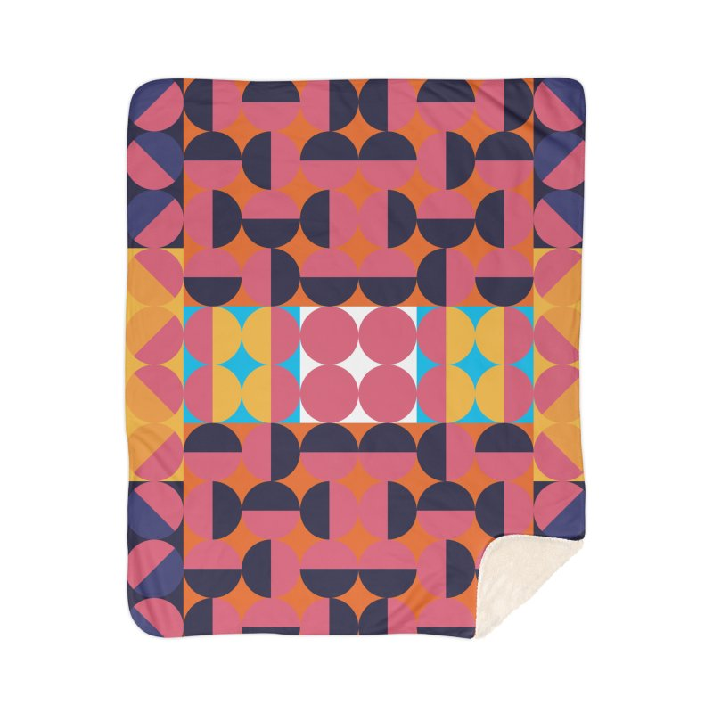 Geometric Design Series 4, Poster 7 Home Sherpa Blanket Blanket by Madeleine Hettich Design & Illustration