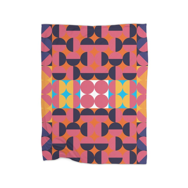 Geometric Design Series 4, Poster 7 Home Fleece Blanket Blanket by Madeleine Hettich Design & Illustration