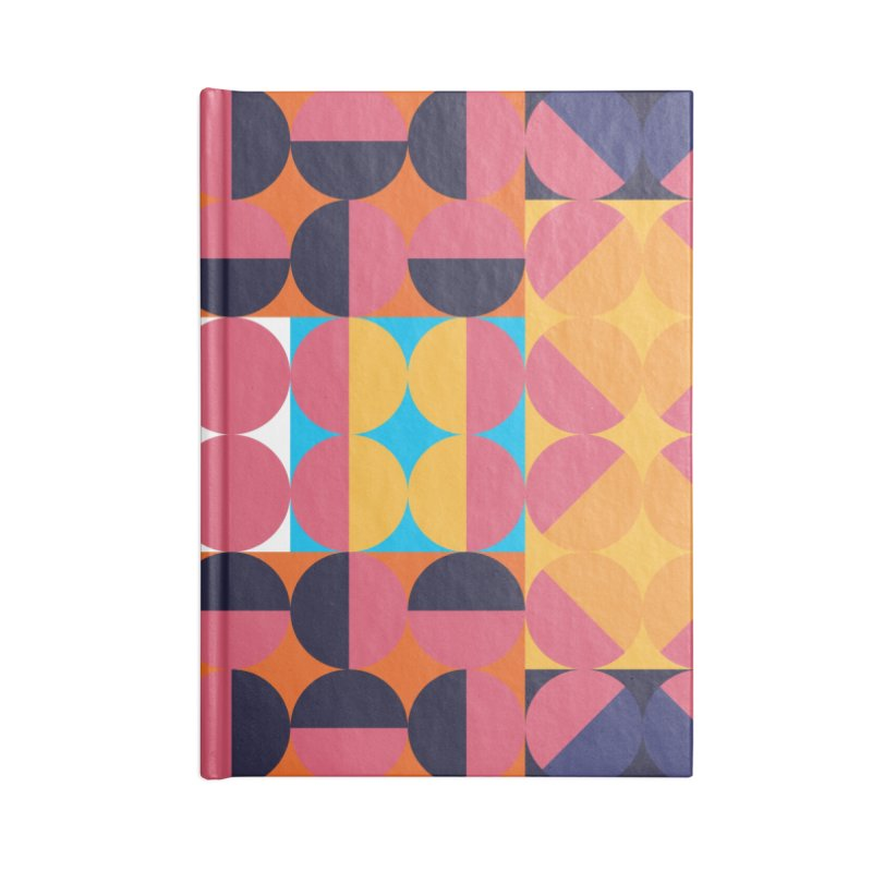 Geometric Design Series 4, Poster 7 Accessories Lined Journal Notebook by Madeleine Hettich Design & Illustration