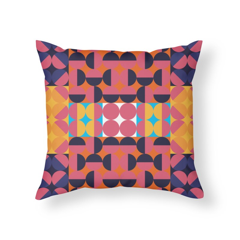 Geometric Design Series 4, Poster 7 Home Throw Pillow by Madeleine Hettich Design & Illustration