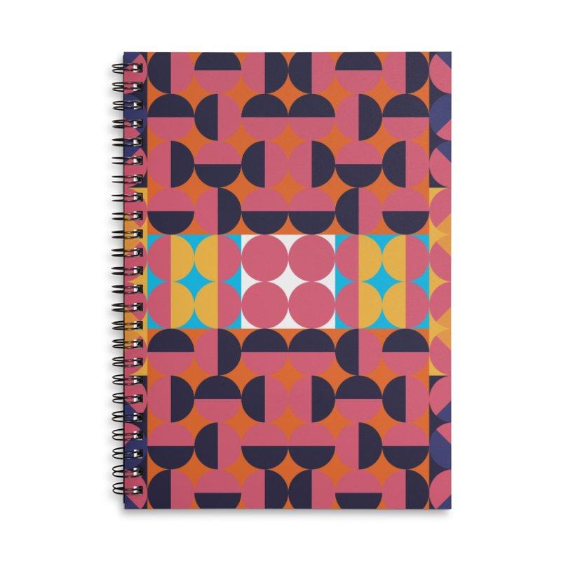 Geometric Design Series 4, Poster 7 Accessories Lined Spiral Notebook by Madeleine Hettich Design & Illustration