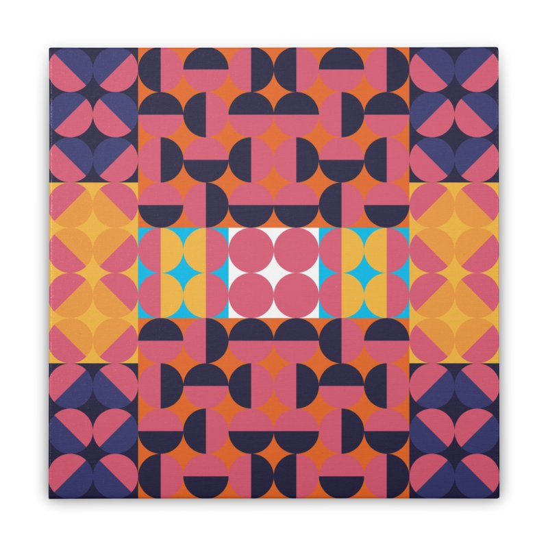 Geometric Design Series 4, Poster 7 Home Stretched Canvas by Madeleine Hettich Design & Illustration