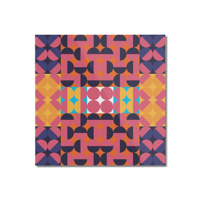 Geometric Design Series 4, Poster 7 Home Mounted Acrylic Print by Madeleine Hettich Design & Illustration