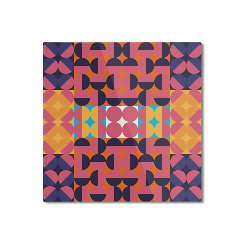 Geometric Design Series 4, Poster 7 Home Mounted Aluminum Print by Madeleine Hettich Design & Illustration