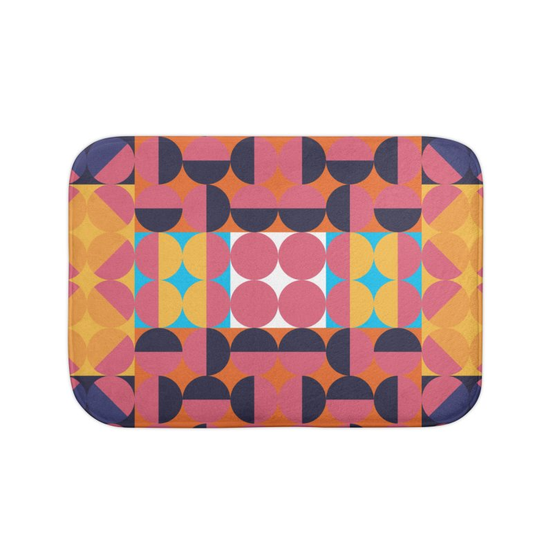 Geometric Design Series 4, Poster 7 Home Bath Mat by Madeleine Hettich Design & Illustration