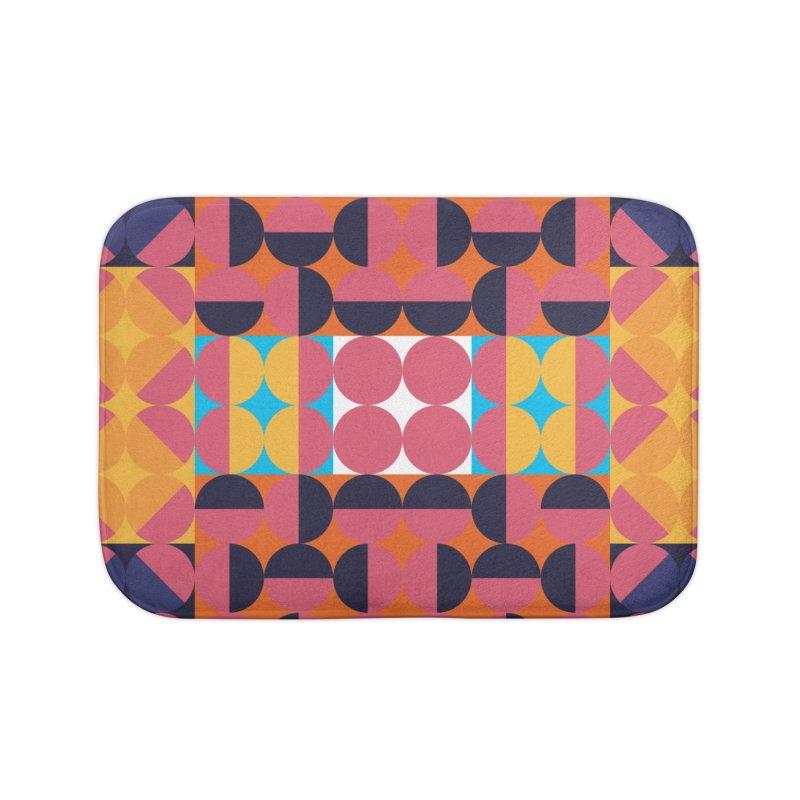 Geometric Design Series 4, Poster 7 Home Bath Mat by Madeleine Hettich Design & Illustration