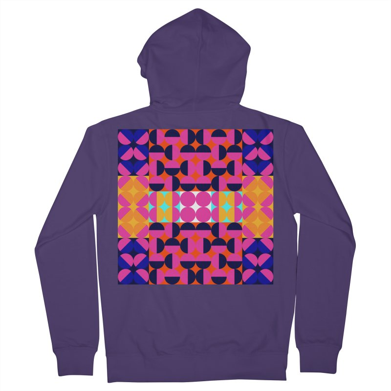 Geometric Design Series 4, Poster 7(Version 2) Women's French Terry Zip-Up Hoody by Madeleine Hettich Design & Illustration