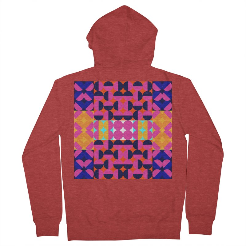 Geometric Design Series 4, Poster 7(Version 2) Men's French Terry Zip-Up Hoody by Madeleine Hettich Design & Illustration