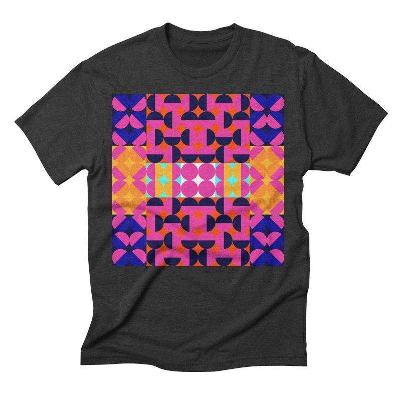 Geometric Design Series 4, Poster 7(Version 2) Men's Triblend T-Shirt by Madeleine Hettich Design & Illustration