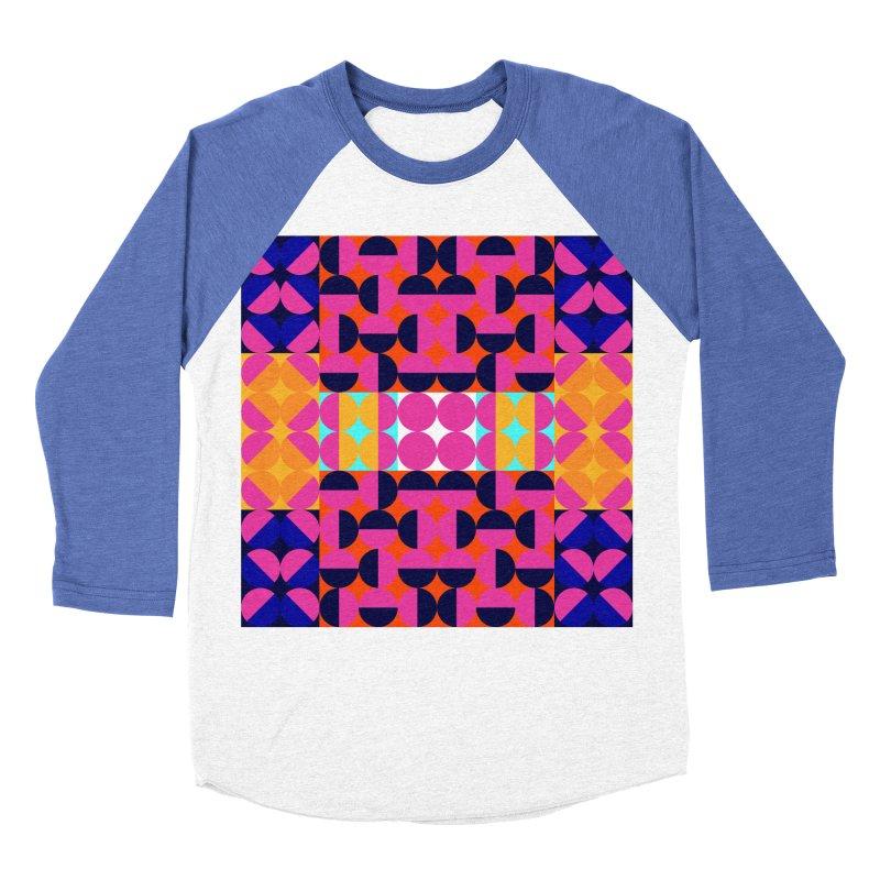 Geometric Design Series 4, Poster 7(Version 2) Women's Baseball Triblend Longsleeve T-Shirt by Madeleine Hettich Design & Illustration