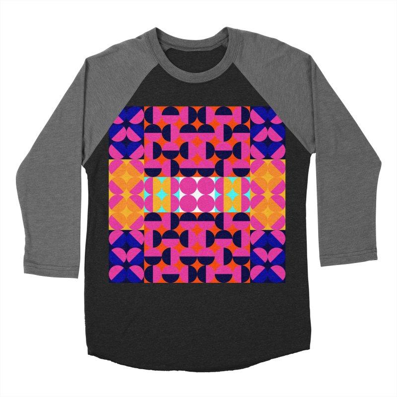 Geometric Design Series 4, Poster 7(Version 2) Men's Baseball Triblend Longsleeve T-Shirt by Madeleine Hettich Design & Illustration
